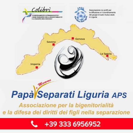 Continuano le attività dell'Associazione Papà Separati Liguria A.P.S.