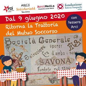 Martedì 9 giugno a Savona riapre le porte la Trattoria del Mutuo Soccorso